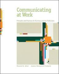 Communicating at Work 9th edition 9780073511887 0073511889