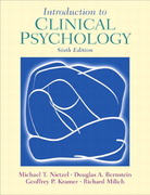 Introduction to Clinical Psychology 6th edition 9780130980823 013098082X