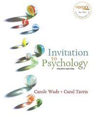 Invitation to Psychology 4th edition 9780131750630 0131750631