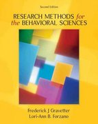 Research Methods for the Behavioral Sciences 2nd Edition 9780534558116 0534558119