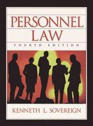 Personnel Law 4th edition 9780130200389 0130200387