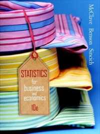 Statistics for Business & Economics 10th edition 9780132409353 0132409356