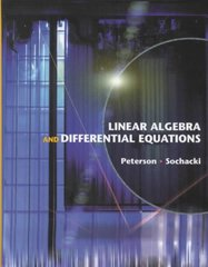 Linear Algebra and Differential Equations 1st edition 9780201662122 0201662124