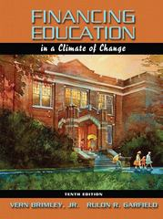 Financing Education in a Climate of Change 10th edition 9780205511792 0205511791