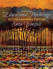 Educational Psychology, Active Learning Edition 10th edition 9780205542789 0205542786