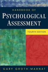 Handbook of Psychological Assessment 4th edition 9780471419792 0471419796