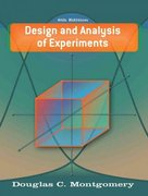 Design and Analysis of Experiments 6th edition 9780471487357 047148735X