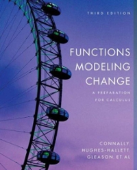 Functions Modeling Change 3rd edition 9780471793021 0471793027