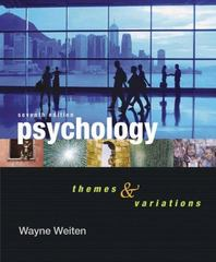 Psychology 7th edition 9780495097037 0495097039