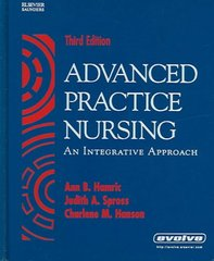 Advanced Practice Nursing 3rd Edition 9780721603308 0721603300
