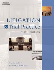 Litigation and Trial Practice 6th edition 9781418016890 1418016896