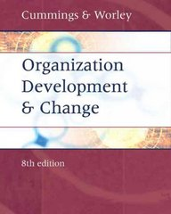 Organization Development and Change 8th Edition 9780324260601 0324260601