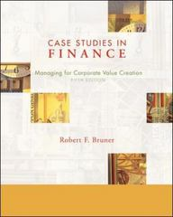 Case Studies in Finance 5th edition 9780072994759 0072994754
