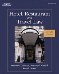 Hotel, Restaurant, and Travel Law 7th edition 9781418051914 1418051918