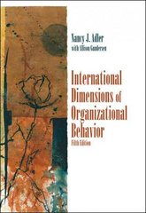 International Dimensions of Organizational Behavior 5th Edition 9781111798796 1111798796