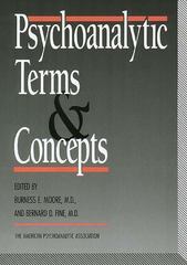 Psychoanalytic Terms and Concepts 3rd edition 9780300047011 0300047010