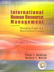 International Human Resource Management 4th Edition 9780324318661 0324318669