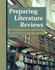 Preparing Literature Reviews-3rd Ed 3rd Edition 9781884585760 1884585760