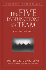 The Five Dysfunctions of a Team 1st Edition 9780787960759 0787960756