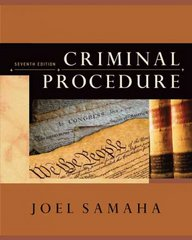 Criminal Procedure 7th edition 9780495095460 049509546X
