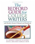 The Bedford Guide For College Writers 7th edition 9780312412524 0312412525