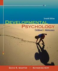 Developmental Psychology 7th edition 9780534632526 0534632521