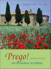 Prego! An Invitation to Italian 7th edition 9780073535265 0073535265