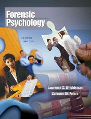 Forensic Psychology (with InfoTrac) 2nd edition 9780534632250 0534632254