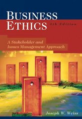 Business Ethics 4th edition 9780324223804 0324223803
