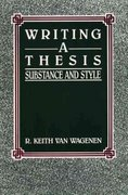 Writing a Thesis 1st edition 9780139710865 0139710868