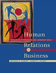 Human Relations in Business 1st edition 9780534355081 0534355080