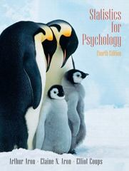 Statistics for Psychology 4th edition 9780131931671 0131931679