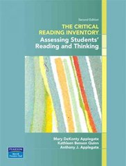 The Critical Reading Inventory 2nd edition 9780131589254 0131589253