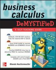 Business Calculus Demystified 1st edition 9780071451574 0071451579