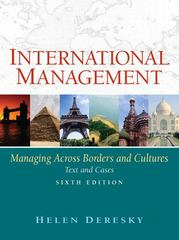 International Management: Managing Across Borders and Cultures 6th edition 9780136143260 0136143261