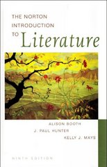 The Norton Introduction to Literature 9th edition 9780393926149 0393926141