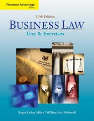 Cengage Advantage Books: Business Law 5th Edition 9780324640960 032464096X