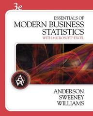 Essentials of Modern Business Statistics (with CD-ROM) 3rd edition 9780324312843 0324312849