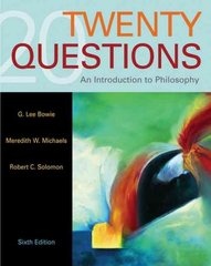 Twenty Questions 6th edition 9780495007111 0495007110
