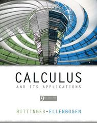 Calculus and Its Applications 9th edition 9780321831149 0321831144