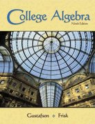 "College Algebra (with Interactive Video Skillbuilder CD-ROM and CengageNOW, iLrnâ""¢ Tutorial Student Version, and Personal Tutor Printed Access Card) 9th edition 9780495012665 0495012661"