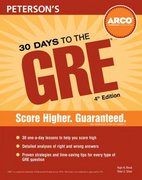 30 Days to the GRE Cat 4th edition 9780768913439 0768913438