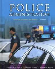 Police Administration 7th edition 9780131589339 0131589334