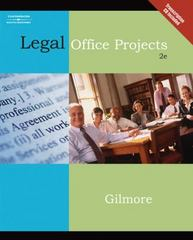 Legal Office Projects (with CD-ROM) 2nd Edition 9780538729338 0538729333