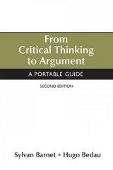 From Critical Thinking to Argument 2nd edition 9780312459888 0312459882