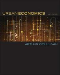Urban Economics 6th edition 9780072984767 0072984767