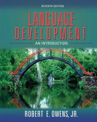 Language Development 7th Edition 9780205525560 0205525563