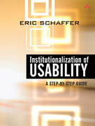 Institutionalization of Usability 1st edition 9780321179340 032117934X