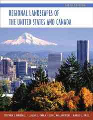 Regional Landscapes of the United States and Canada 6th edition 9780471152262 0471152269