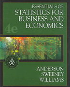Essentials of Statistics for Business and Economics (with CD-ROM and InfoTrac ) 4th edition 9780324223200 032422320X